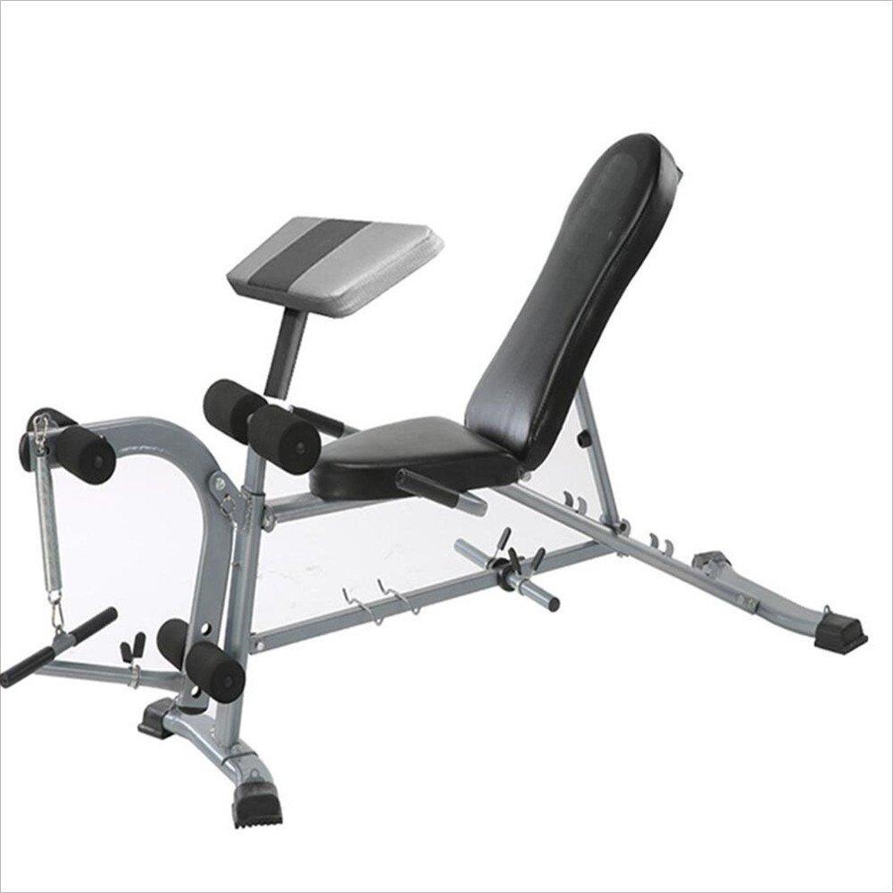 折り畳み多機能トレーニングベンチ コンビネーションフィットネス機器健康腹部デバイス多機能ダンベルスツール仰臥位プレートフィットネスコンビネーションフィットネス機器2-in-1ダンベルベンチ