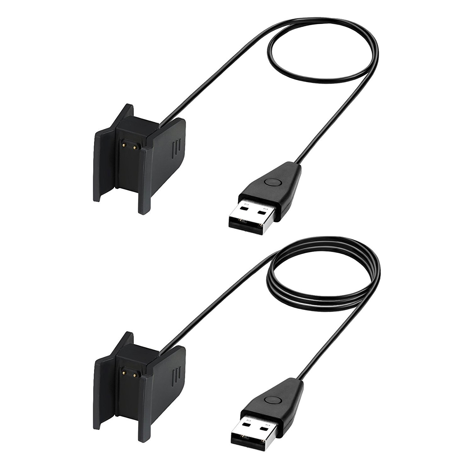 Fitbit Alta HR Charger with Reset Button, BeneStellar 2-Pack 3.3ft/1m or 1.8ft/55cm Replacement Charging Cable Cradle Dock Adapter for Fitbit Alta HR ...
