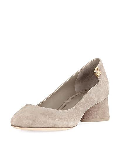 eb1554ea1 Amazon.com | Tory Burch Women's Elizabeth Suede Mid Heel Pumps, Dust ...