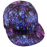 moonsix Unisex Snapback Hats,Adjustable Flat Bill Baseball Caps Dancing Hip Hop Cap,Style L