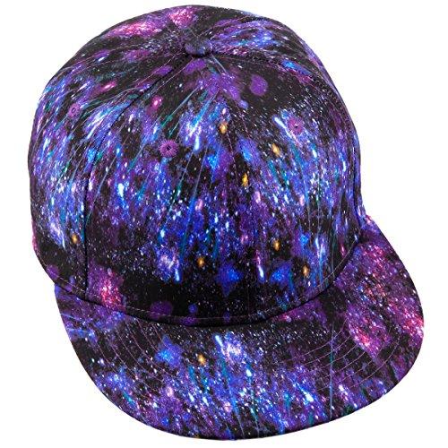 moonsix Unisex Snapback Hats,Adjustable Flat Bill Baseball Caps Dancing Hip Hop Cap,Style L by moonsix