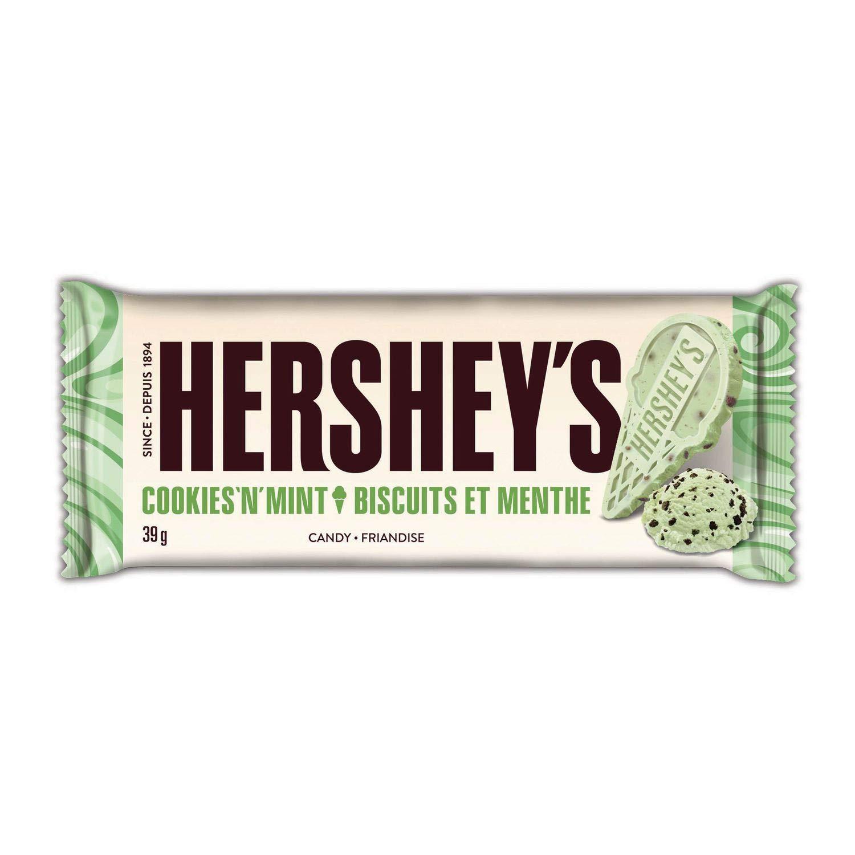 6 x Bars of HERSHEY'S Chocolate Bars Original (Cookies 'N' Mint)