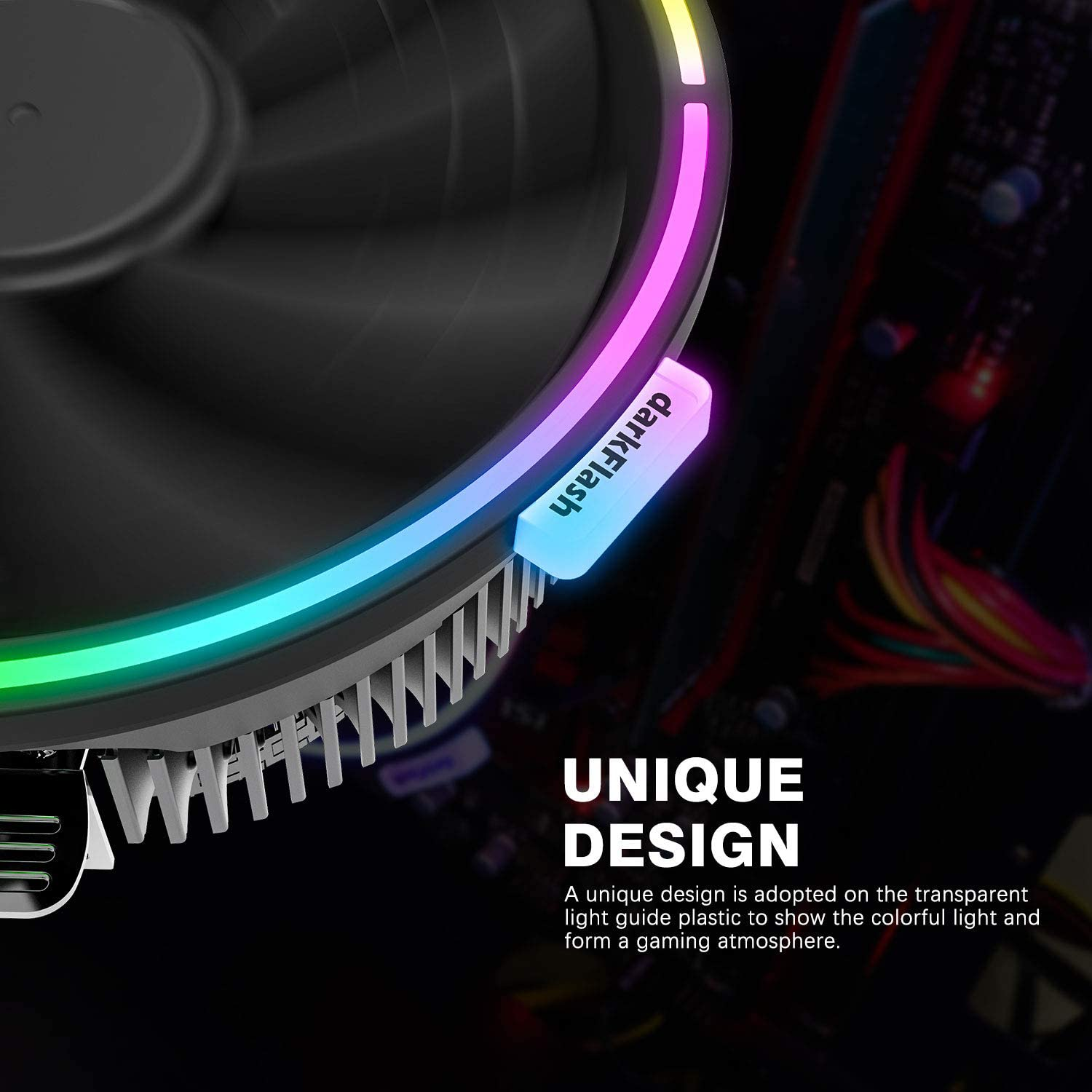darkFlash DARKVOID Top-Flow Air CPU Cooling Cooler Heastink with 125mm LED Fan for Intel and AMD