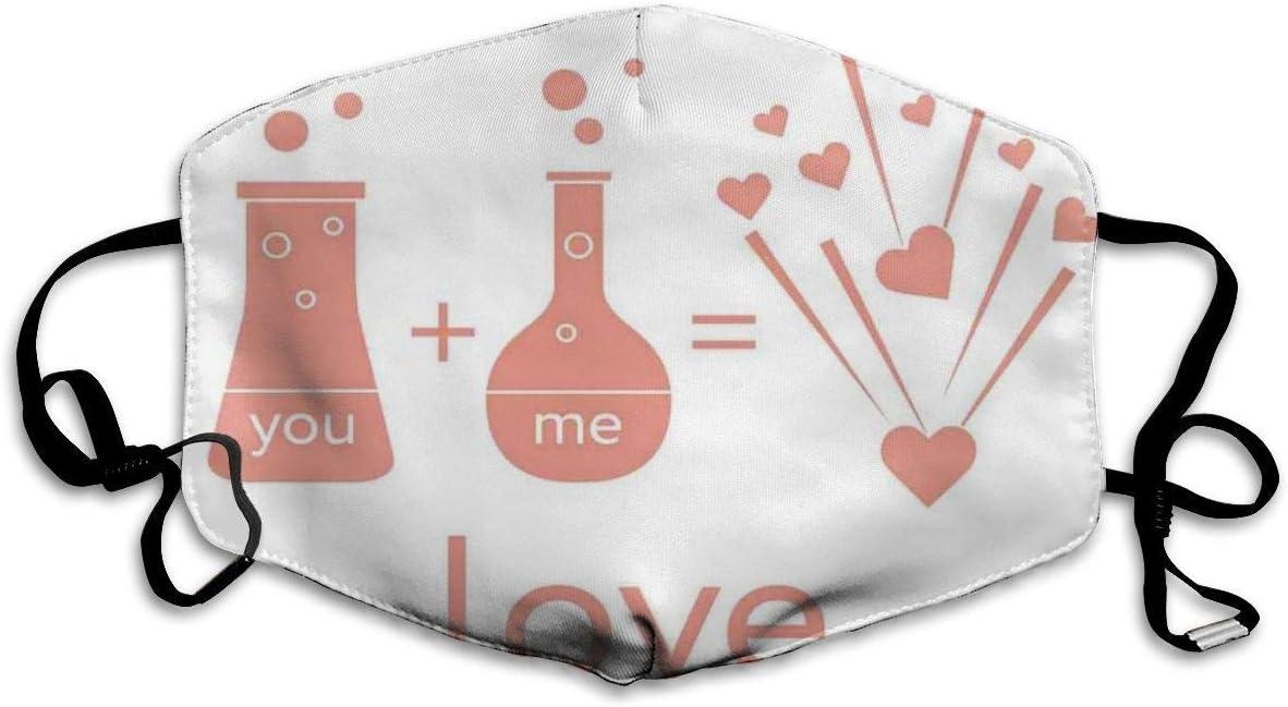 YYTT8 Tapa de la Cara Protector bucal Química del Laboratorio de hormonas del Amor Enamorarse Romance Humor Tema