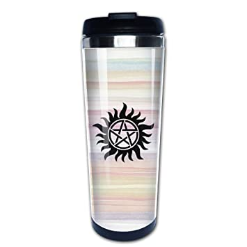 616e97ccfc2 Image Unavailable. Image not available for. Color: Supernatural Symbol  Stainless Travel Coffee Mug