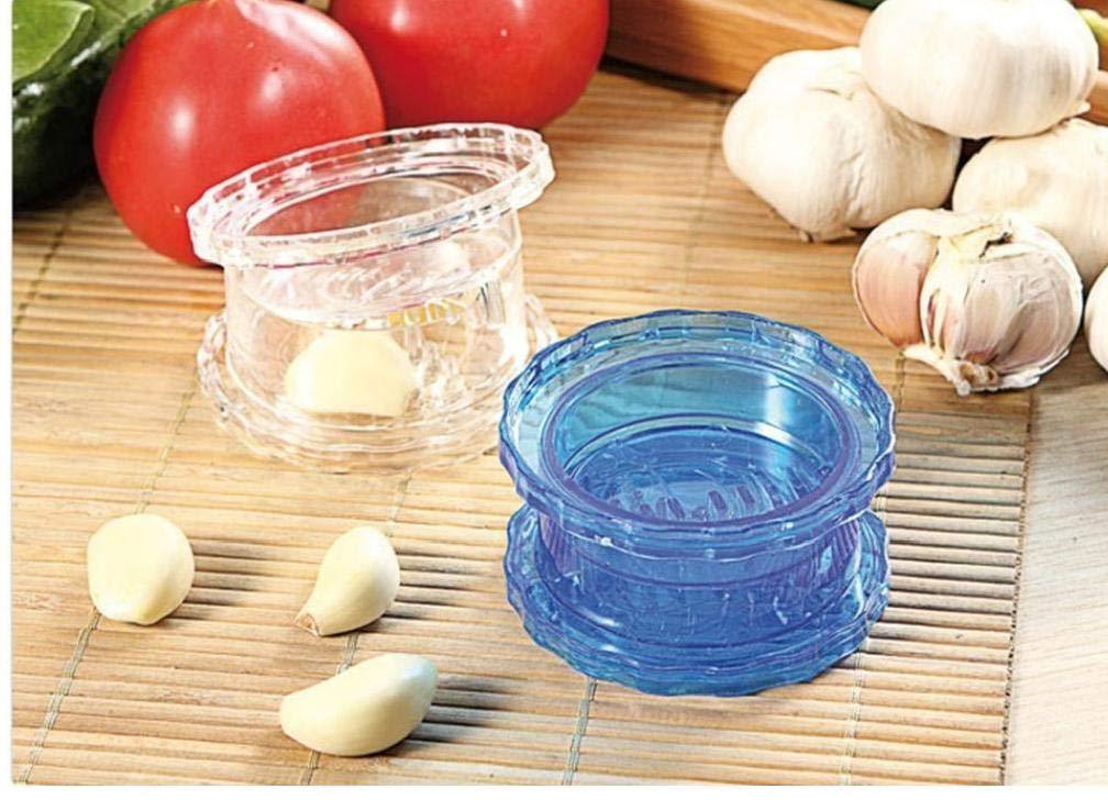 1pc Cocina Molino trituradora del ajo Jengibre Dispositivo multifunci/ón Prensa de ajo pelador de ajos Color al Azar