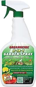 Organic Laboratories 100-004 Organocide 3-in-1 RTU Garden Spray, 24-Ounce