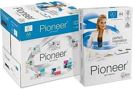 PIONEER - Papel premium para impresora 2500 folios 90 g/m2: Amazon.es: Oficina y papelería