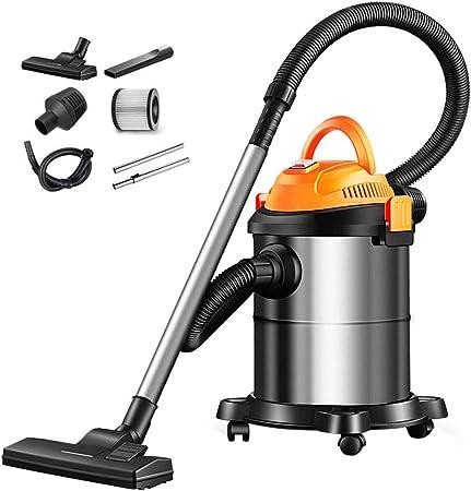 TY-Vacuum Cleaner MMM@ Aspirador doméstico 1200W de Alta Potencia Aspirador de Mano pequeño Silencio Barril Industrial Seco y Mojado Soplando alfombras Colector de Polvo 15L Metal Barril: Amazon.es: Hogar