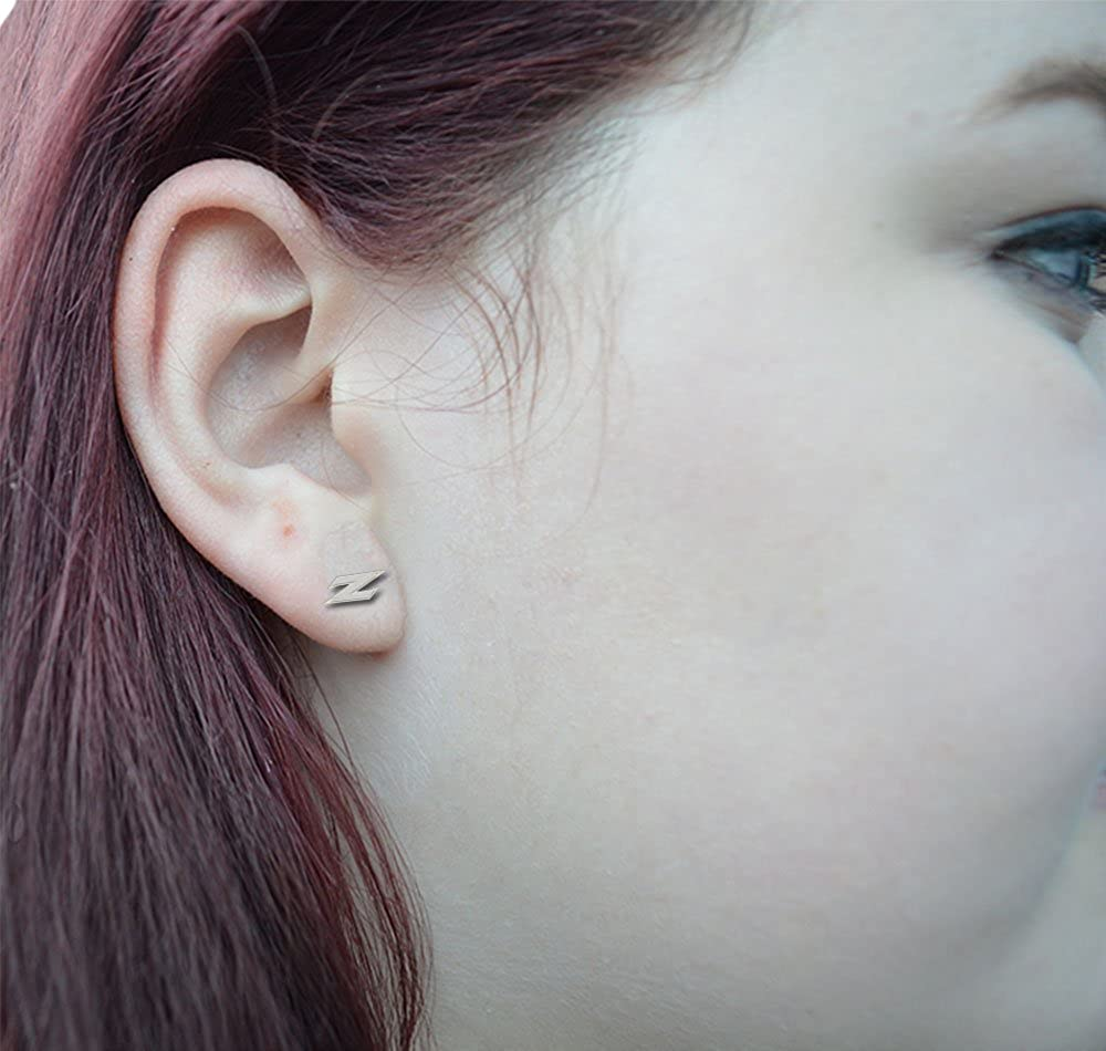 Akron Zips Earring See Image on Model for Size Reference Medium Stud