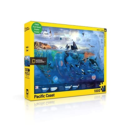 New York Puzzle Company - National Geographic Pacific Coast - 1000 Piece Jigsaw Puzzle: Toys & Games