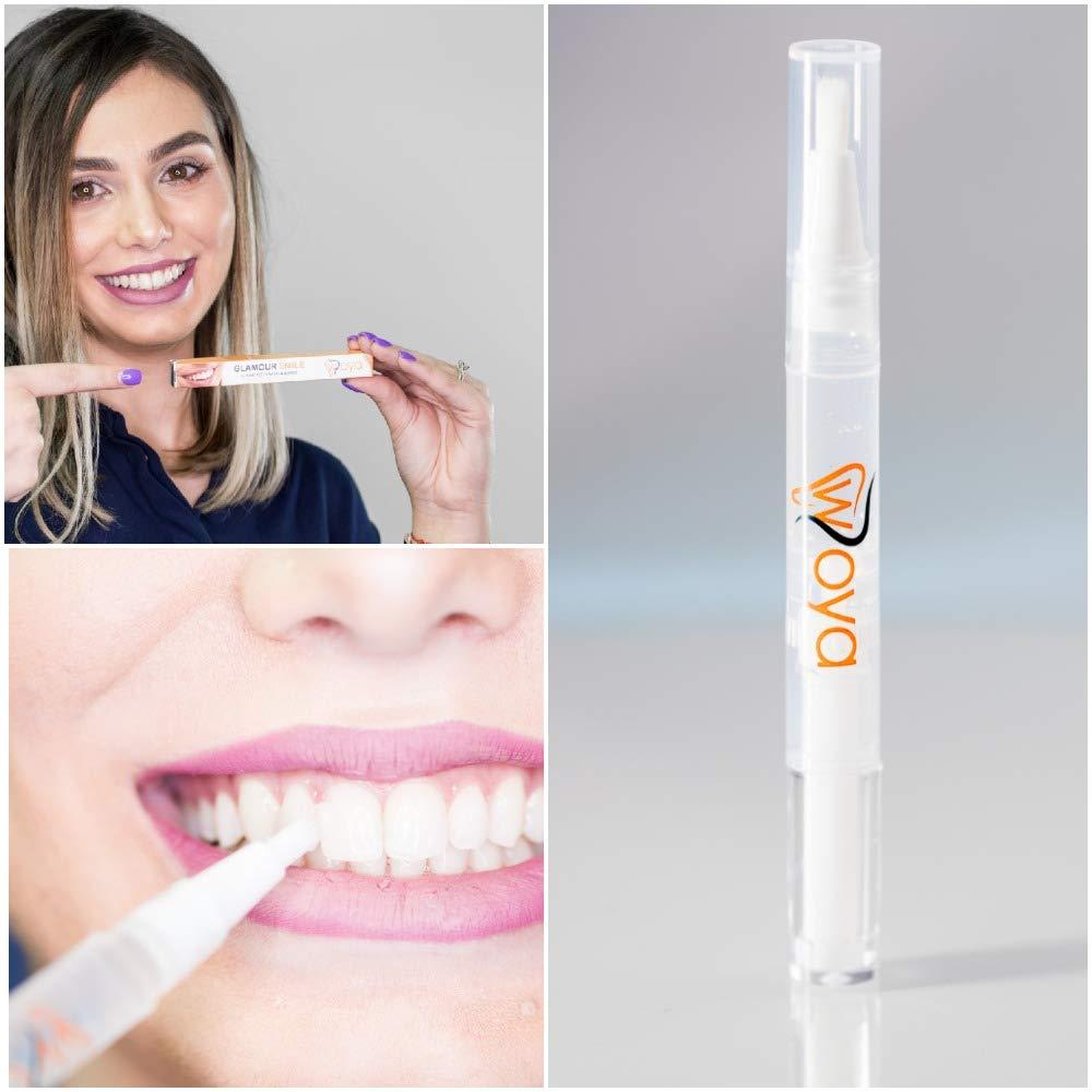 WOYA Lápiz Blanqueador Dental Profesional, Kit de Blanqueamiento Dental con Bolígrafo Blanqueador de Dientes con Punta Suave y Gel Transparente Para Dientes ...
