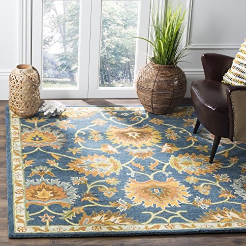 Safavieh Heritage Collection HG654A Handcrafted Traditional Navy Premium Wool Area Rug (8' x 10')