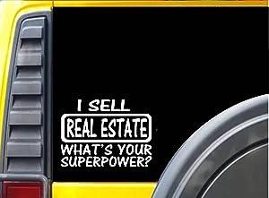 """EZ-STIK Real Estate Superpower StickerK519 8"""" Vinyl Sticker Decal"""