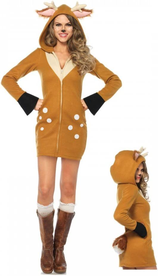 shoperama Cozy Fawn Disfraz para Mujer De Leg Avenue – Cervatillo ...