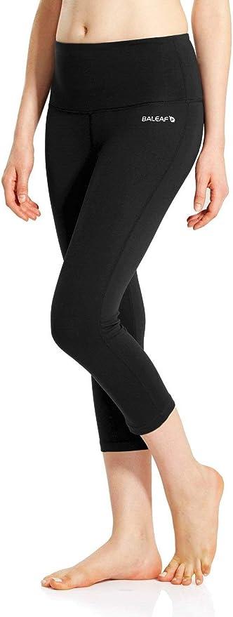black Yoga pants Yoga Capri Leggings Morning Tide Pattern 852 white turquoise gray teal Wearable art
