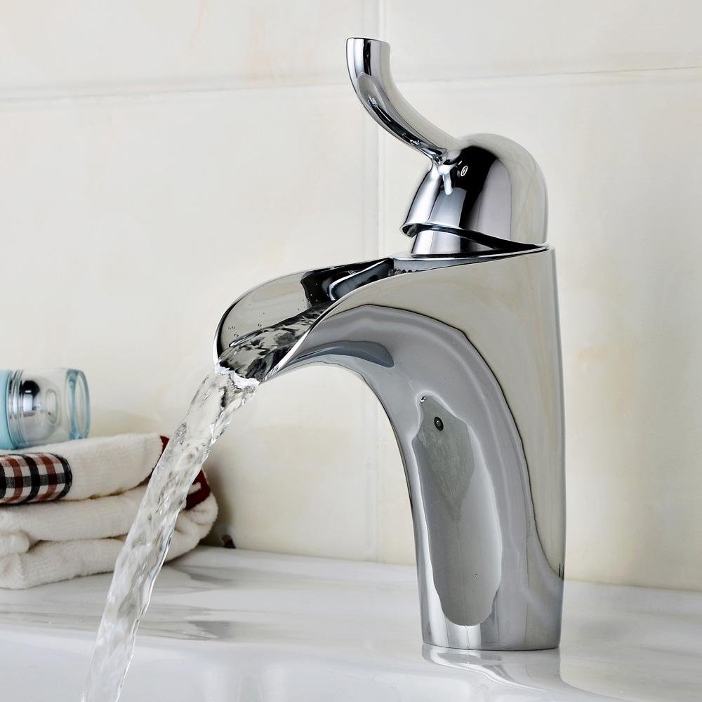 SBWYLT-Creative copper basin under the hot and cold water basin tap , 2 outlet