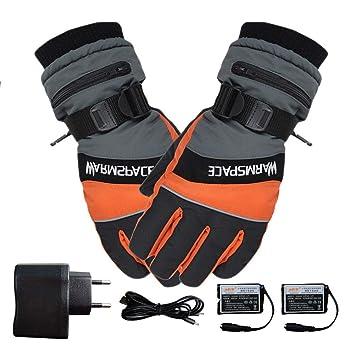 Eillybird Skihandschuhe Herren Winter Per USB Aufladbare Elektrische Beheizte Handschuhe Warme Wasserdichte u Windundurchl/ässige Ski-W/ärmer-Handschuhe im Freiensport-Handschuhe f/ür Mann-Frauen
