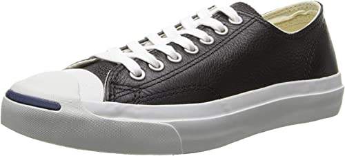 Converse Jack Purcell Leather Ox Homme Baskets Mode Noir