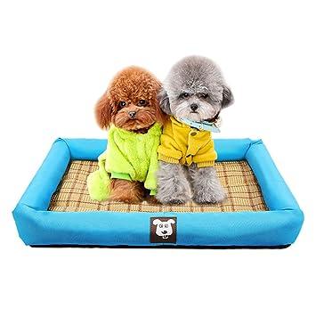 FH Perrera Medio Perro Pequeño Teddy Bomei Alfombra para Gatos Caseta De Perro Mascota De Perro Suministros De Verano Perrera Casetas para Perros: ...