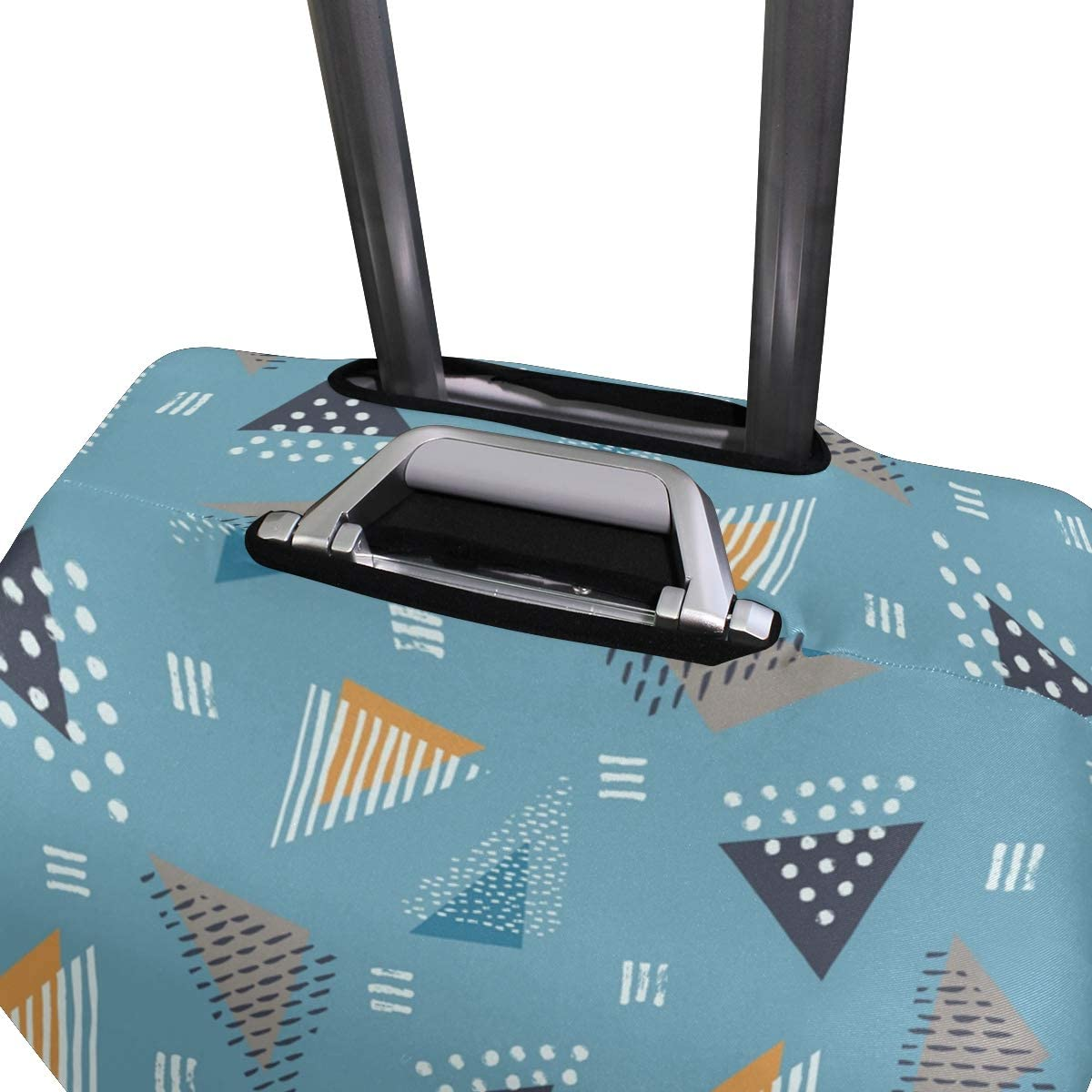 Texture Triangle Vector suitcase cover elastic suitcase cover zipper luggage case removable cleaning suitable for 29-32 trunk cover