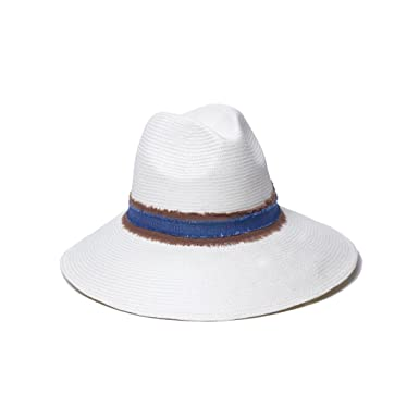 7645df6be09  ale by alessandra Women s Grosvenor Fine Panama Hat With Two-tone Canvas  Trim