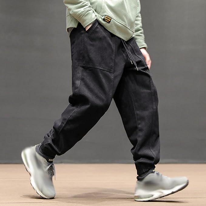 Amazon.com: PLLP Pantalones de muelles japoneses retro ...