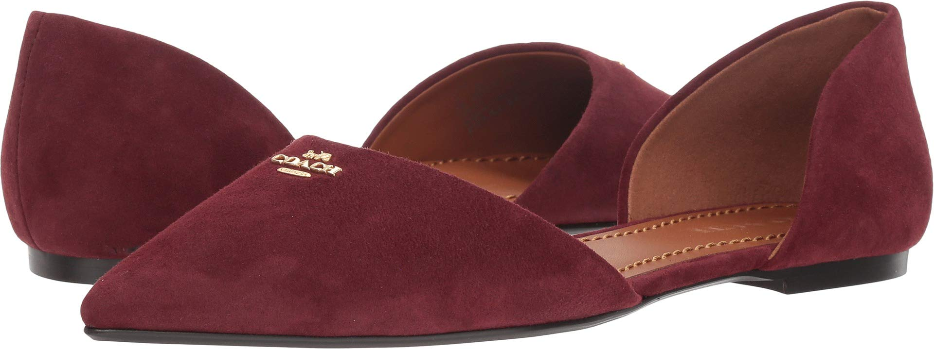 Coach Womens Suede Pointy Toe Flat