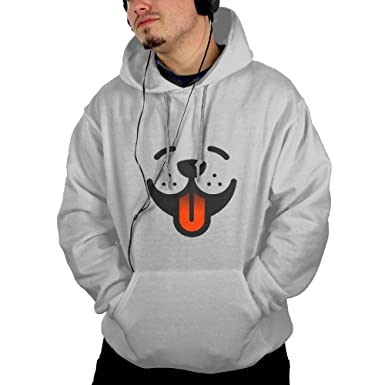 XSDSD Dog Face Cool Men Hooded Sweashirt Graphic Jacket