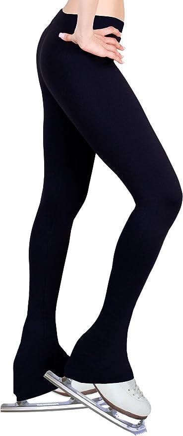 Fuchsia, Adult Extra Small ny2 Sportswear Figure Skating Pants with 2-Tones Waistband