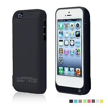 Funda Batería Extra 4200Mah para iPhone 5/5S/5C Cargador Batería External Recargable Carcasa Protectora de Noza tec - Negro