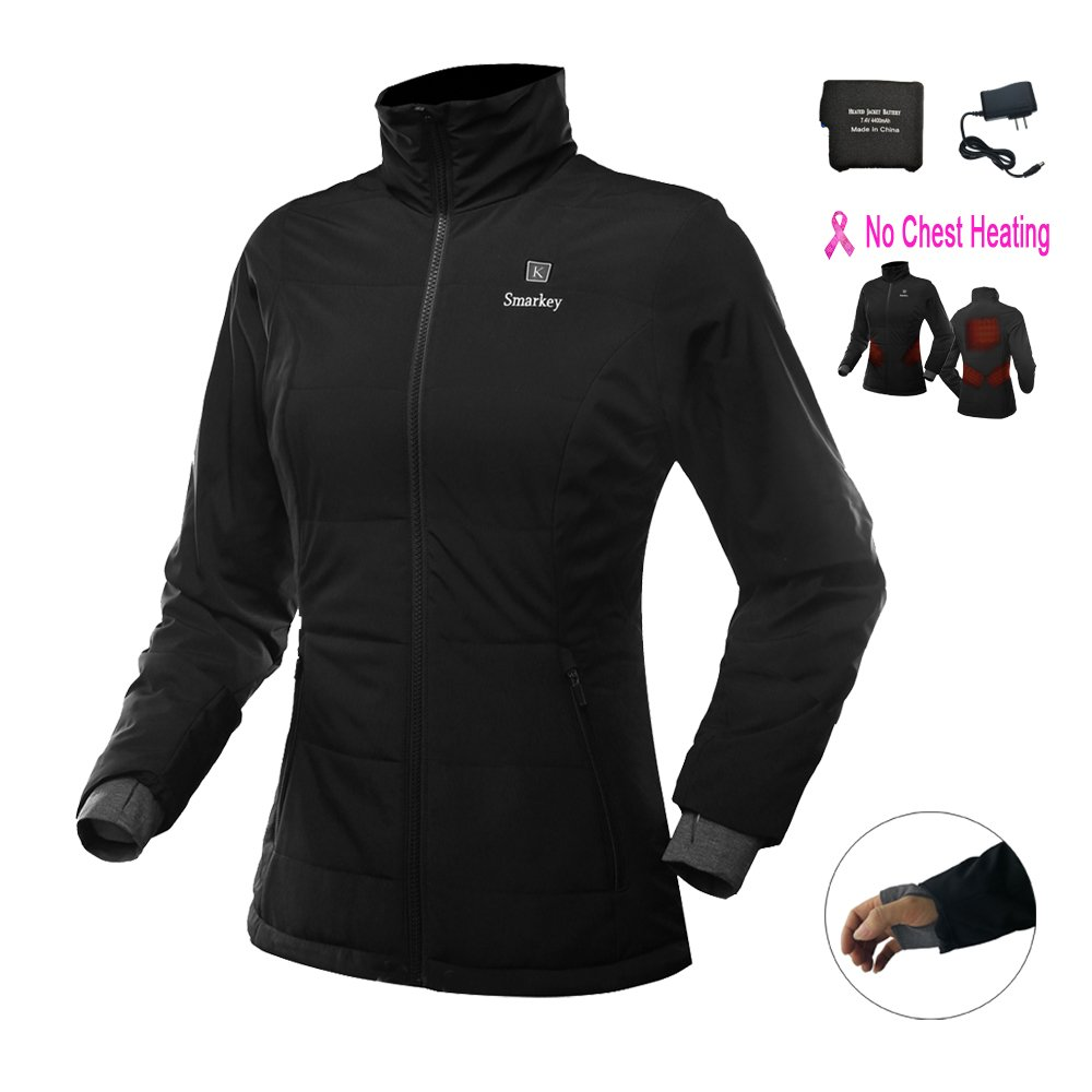 Smarkey Women's Heated Jacket With 1pcs 4400mAh Battery And Charger For Winter Outdoor Wear (XL) by Smarkey