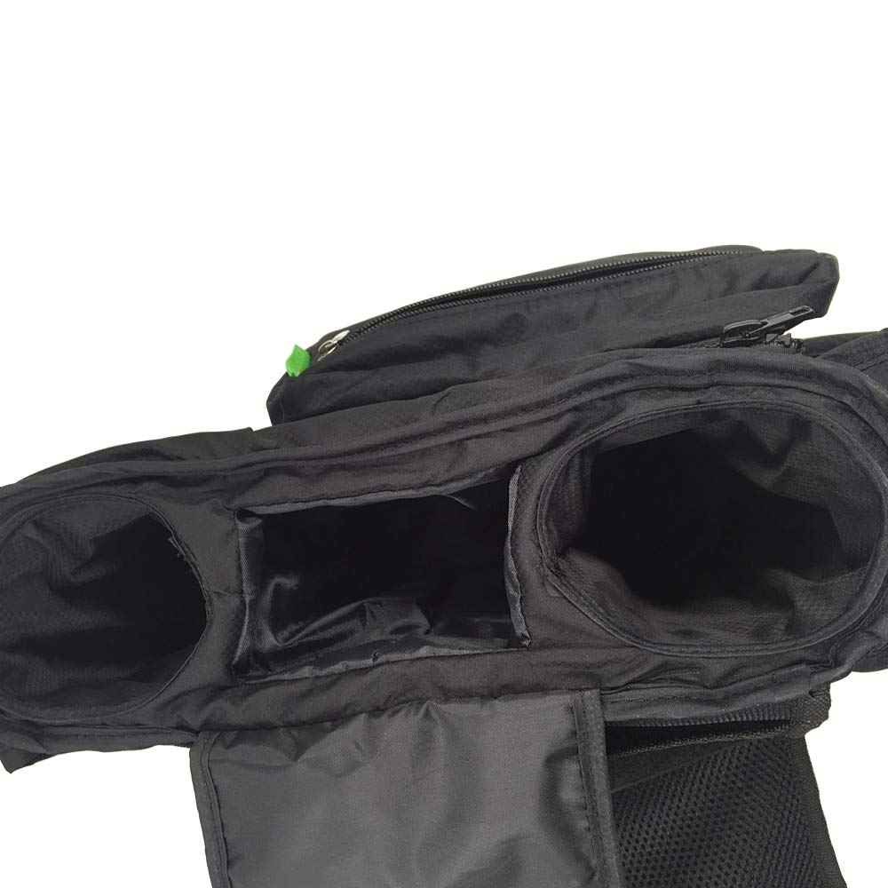 ZoneStar Black Stroller Organizer with Insulated Cup Holders, Detachable Phone Bag (Bag-Y-Black) by Zone Star (Image #3)