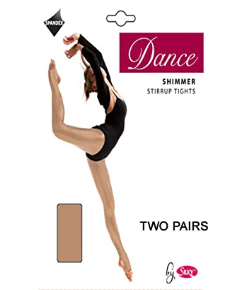 a1a8cc947ccd1 2 Pairs Silky Childrens Girls Stirrup Foot Shimmer Dance Ballet Tights 2  Pairs: Amazon.co.uk: Clothing