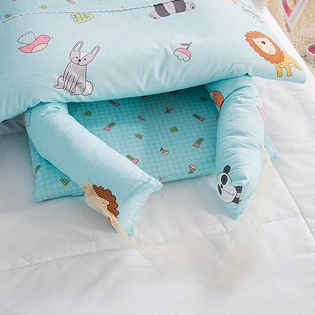 Cuna desmontable y plegable con edredón para bebé, se puede poner encima de una cama (0-24 meses) zoo