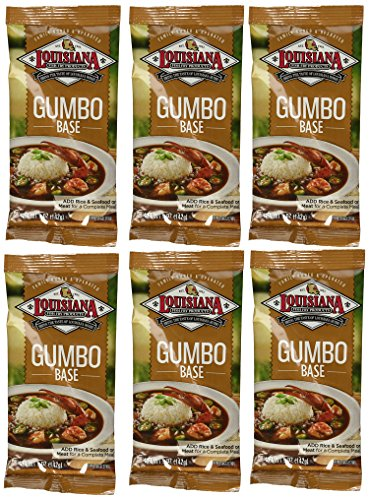 Louisiana Fish Fry Gumbo Base - 6 (SIX) 5oz Packages