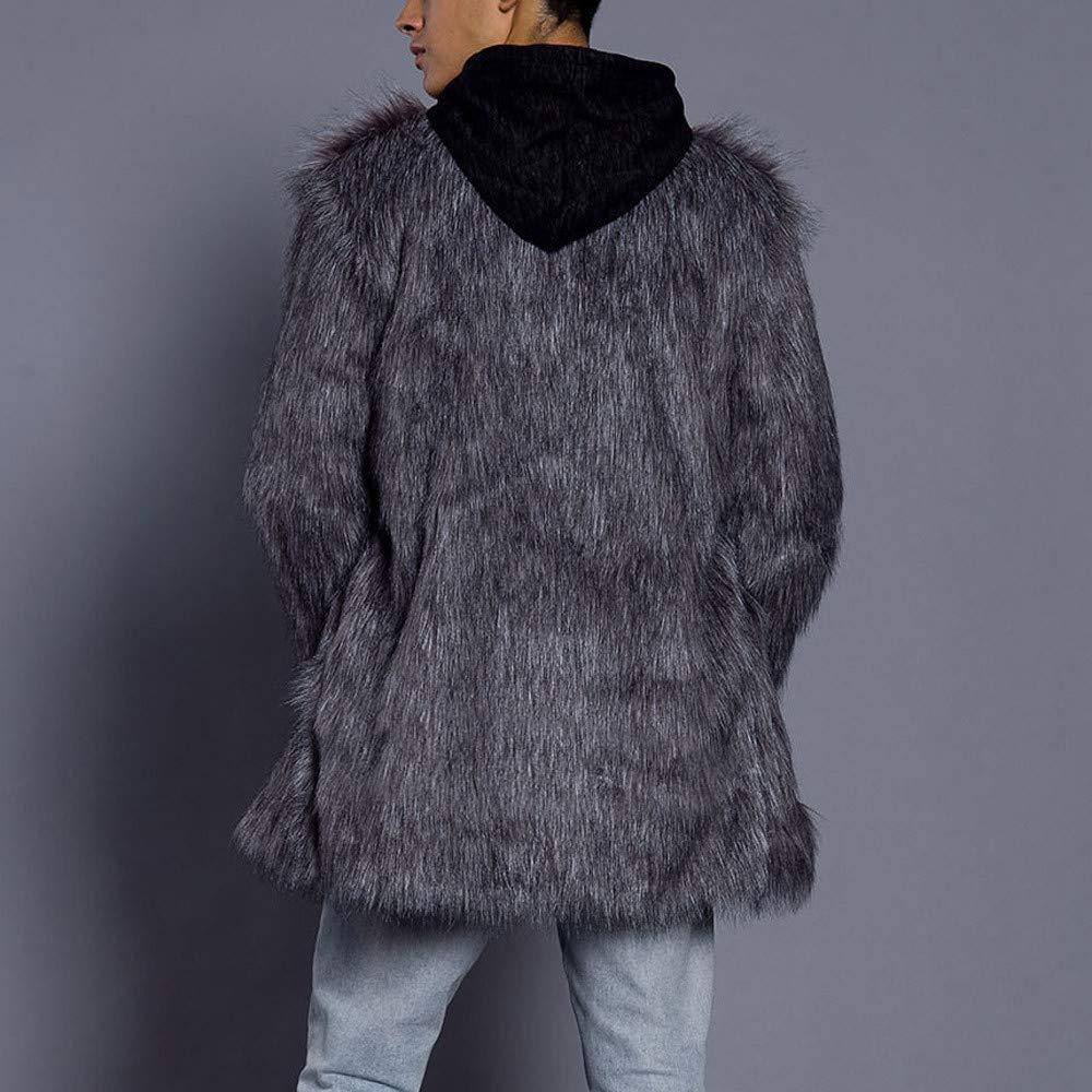 fadd237cb311c Manteau Homme Hiver Chaud Manteau épais Mens Veste Veste Fausse Fourrure  Parka Outwear Cardigan BaZhaHei  Amazon.fr  Vêtements et accessoires
