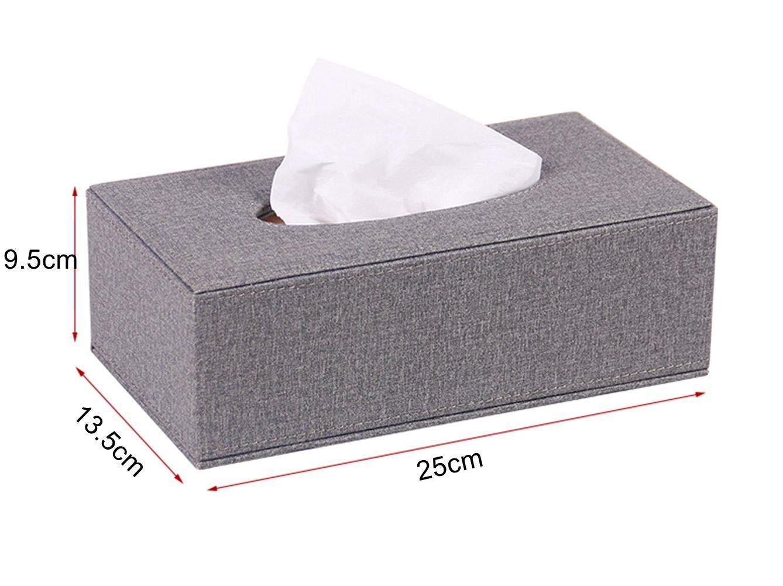 Khaki S Forever Home Decor Chic Kleenex Box Holders PU Leather Rectangle Tissue Box Cover