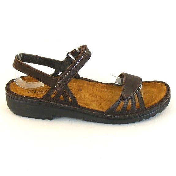 Naot Damen Schuhe Sandaletten Anika Echt Leder braun 10318 Wechselfu bett