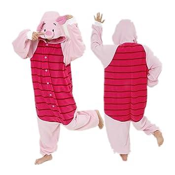 Piglet Adult Men Women Unisex Animal Sleepsuit Kigurumi Cosplay Costume Pajamas Outfit Nonopnd Nightclothes Onesies Halloween