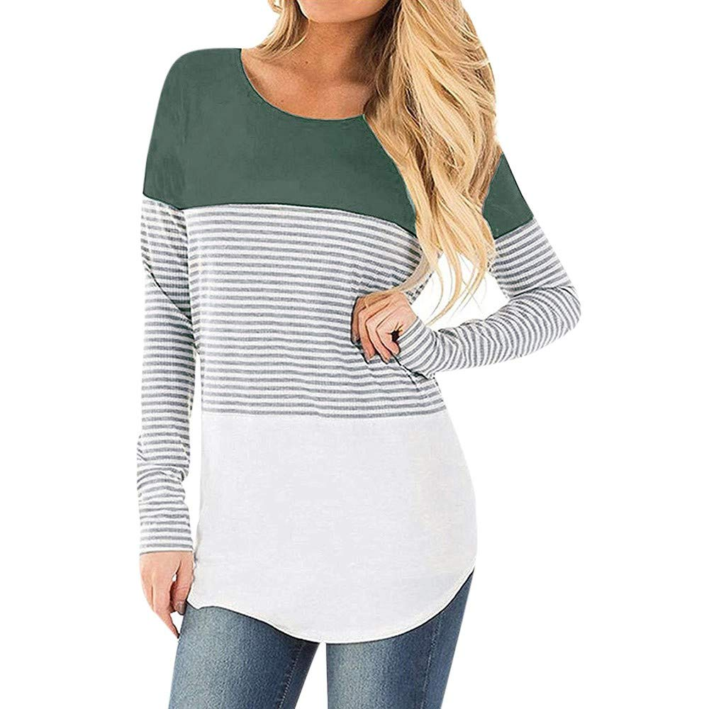 GNYD Winter Maternity Clothing Breastfeeding Cover Up Tops Nursing Bra Comfortable Pyjamas Casual Tee T-Shirt Gray Women Pregnant Nursing Baby Long Sleeved Striped Blouse Clothes Size S M L XL 2XL