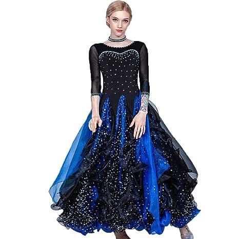 ZTXY Elegante Vestido de Baile lírico para Mujer Falda Plisada ...