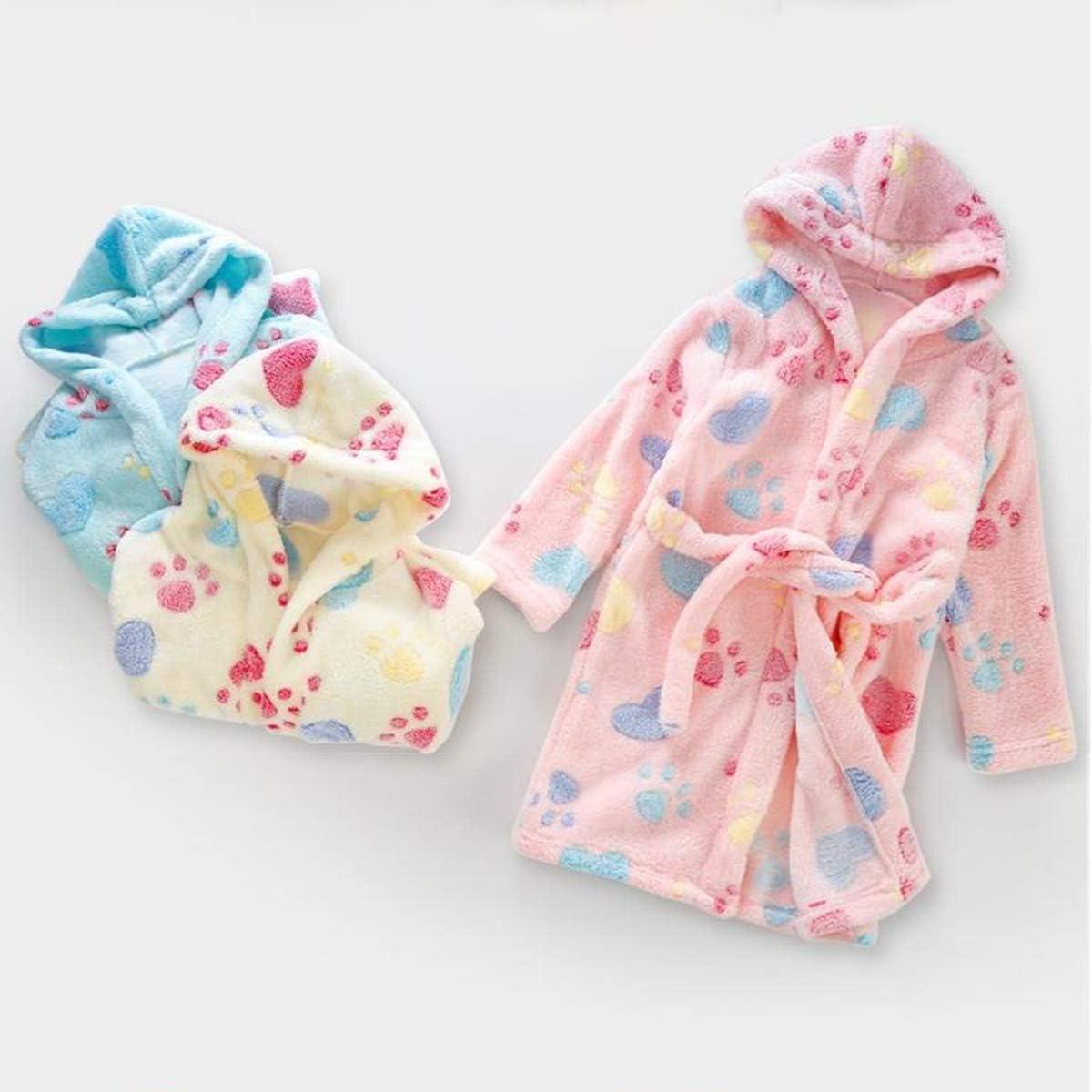 DEBAIJIA Baby Bademantel 0-14T Kleinkind Morgenmantel Kinder Hausmantel Handtuch Robe S/äugling Nacht Kleidung Junge M/ädchen Unisex