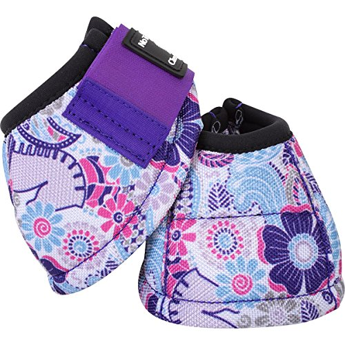 Classic Rodeo (Classic Equine Purple Posey DYNOHYDE 2520D No Turn Horse Bell Boots Large)