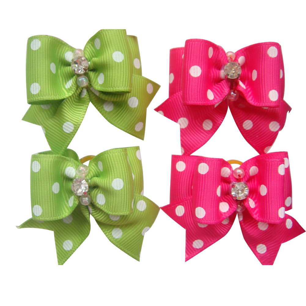 20 Pcs Pet Grooming Hair Bow Ribbon Gift Headdress Flower Hair Accessories for Dog Cat Puppy by Gozier (Image #8)