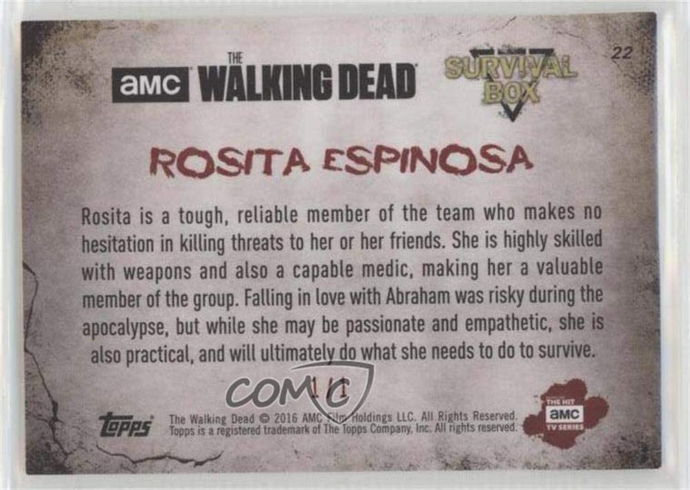 Walking Dead Survival Box Base Card #22 Rosita Espinosa