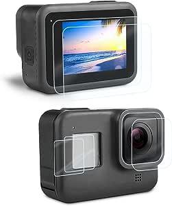 iTrunk Protector de Pantalla Cristal Templado para GoPro Hero 8 Black, Película Protectora de Pantalla +Película Protectora de Lente+ Protección de Pequeña Pantalla, Accesorios para Hero 8[6pcs]