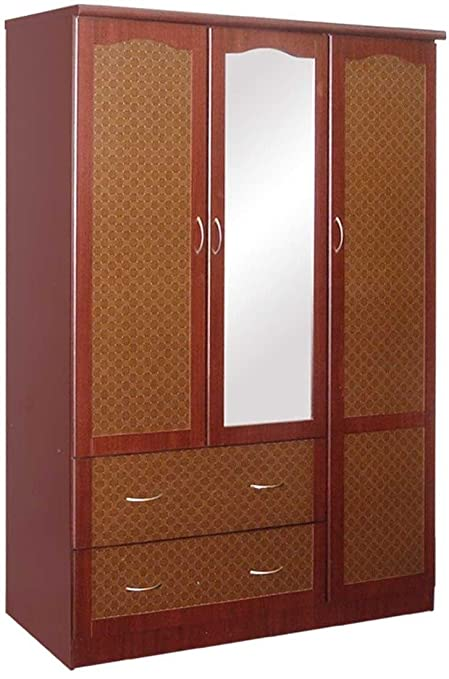 Amazon Hoahif441m Hodedah Import 4 Door Wardrobe With Mirror