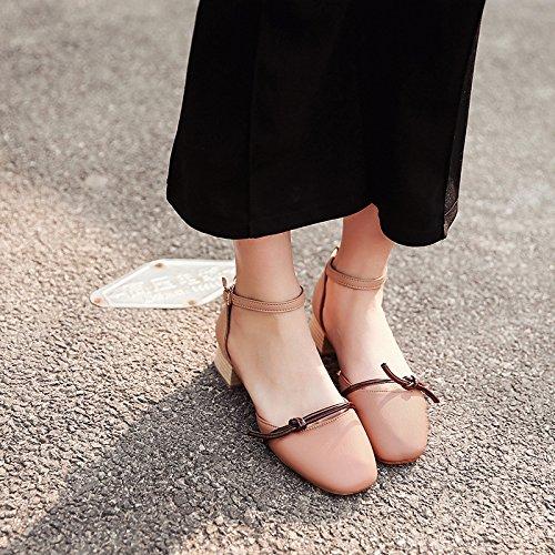 con Pink RUGAI da e fiocco donna sandali UE arco legati sono UwYPFgqw