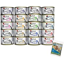 Cedar Crate Market Bundle: Weruva TruLuxe Grain-Free Wet Cat Food Variety Pack Box - All 10 Flavors - 3 Ounces Each (20 Total Cans - 2 of Each Flavor) with Bonus Catnip Bag